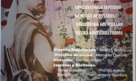 27 Junio. Concierto de homenaje a Gayarre del Aula de Canto del Conservatorio Superior de Música de Navarra